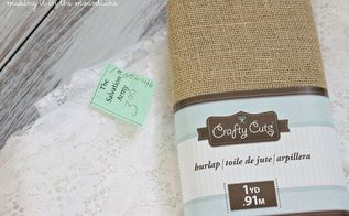 shabby chic burlap lace garland for fall, crafts, seasonal holiday decor, shabby chic