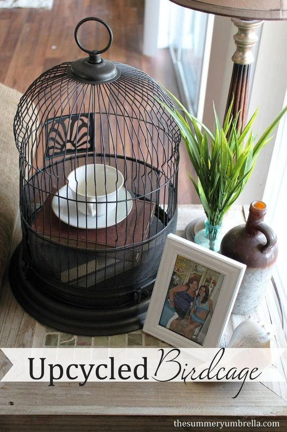 upcycled birdcage, home decor, repurposing upcycling