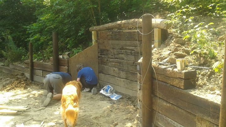 building our own hobbit hole, diy, landscape, outdoor living, woodworking projects