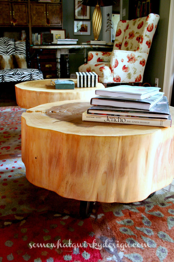 diy tables large tree slices wood, diy, home decor, repurposing upcycling, rustic furniture, woodworking projects