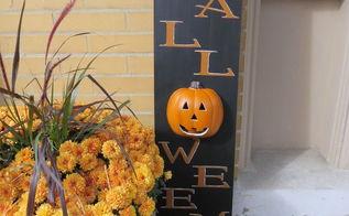 diy light up happy halloween sign, crafts, halloween decorations, seasonal holiday decor