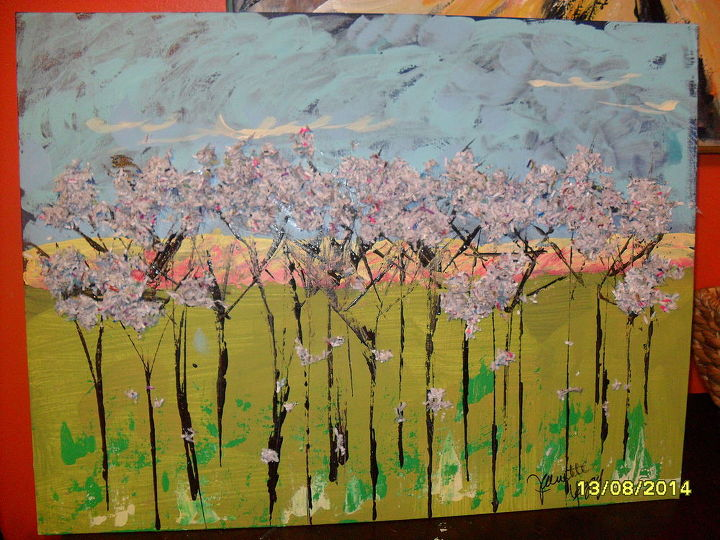 paper shredder paintings, crafts, home decor, painting