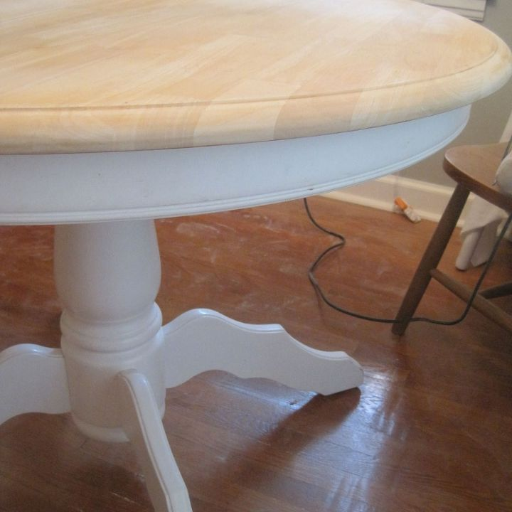 craigslist dining table makeover tutorial, dining room ideas, diy, how to, painted furniture, woodworking projects