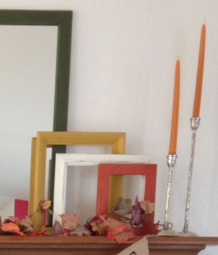fall mantel makover on a budget, fireplaces mantels