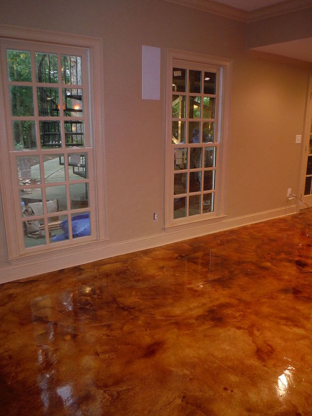 Stained Concrete Rocks Masonry Home Improvement