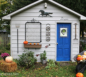 Garden Shed Rustic Fall Junk Makeover, Outdoor Living, Seasonal Holiday  Decor
