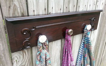salvaged drawer front coat rack, repurposing upcycling