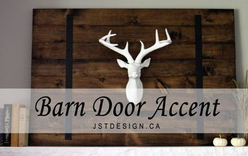diy barn door accent, diy, fireplaces mantels, home decor, seasonal holiday decor
