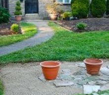 potted display, concrete masonry, container gardening, gardening, ponds water features