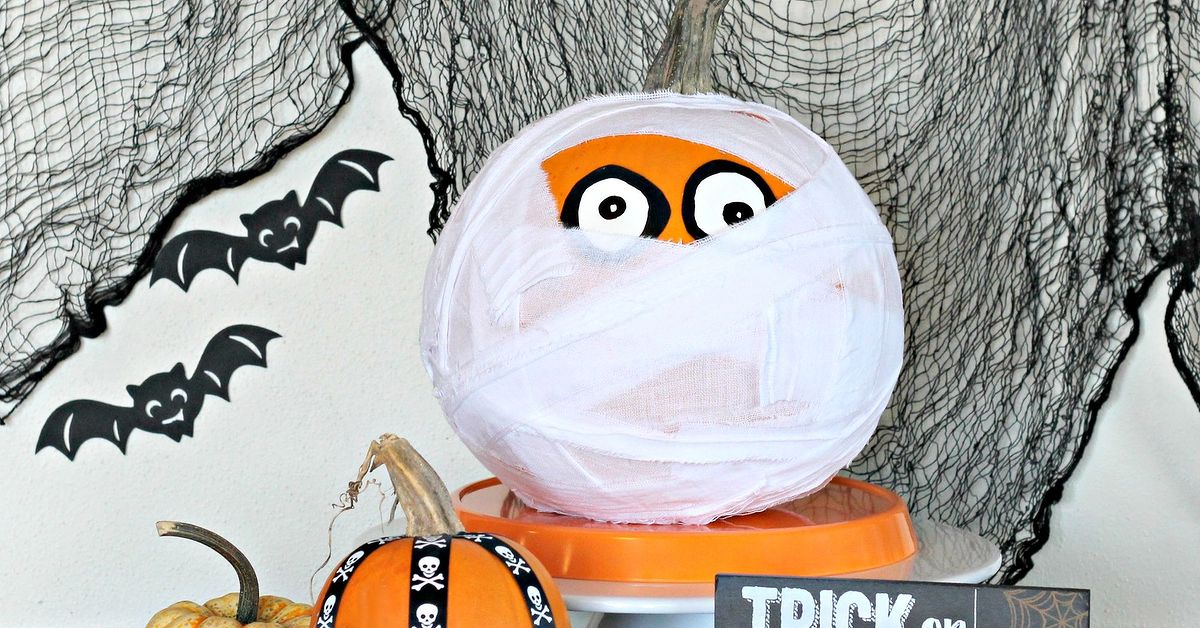 Halloween Decoration Mummy Pumpkin Hometalk
