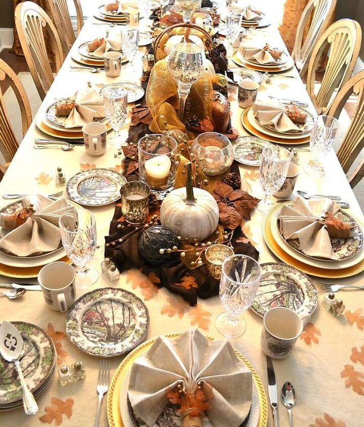 rustic glam fall tablescape, crafts, home decor, how to, seasonal holiday decor