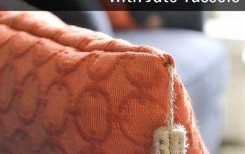 diy throw pillows with diy jute tassels, crafts, diy, how to, reupholster