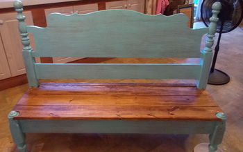 upcycled bench headboard footboard, outdoor furniture, pallet, woodworking projects