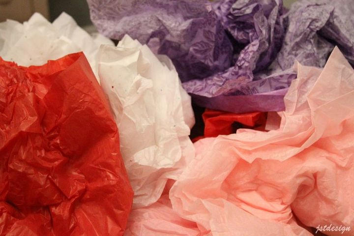 how to recycle tissue paper, organizing, repurposing upcycling