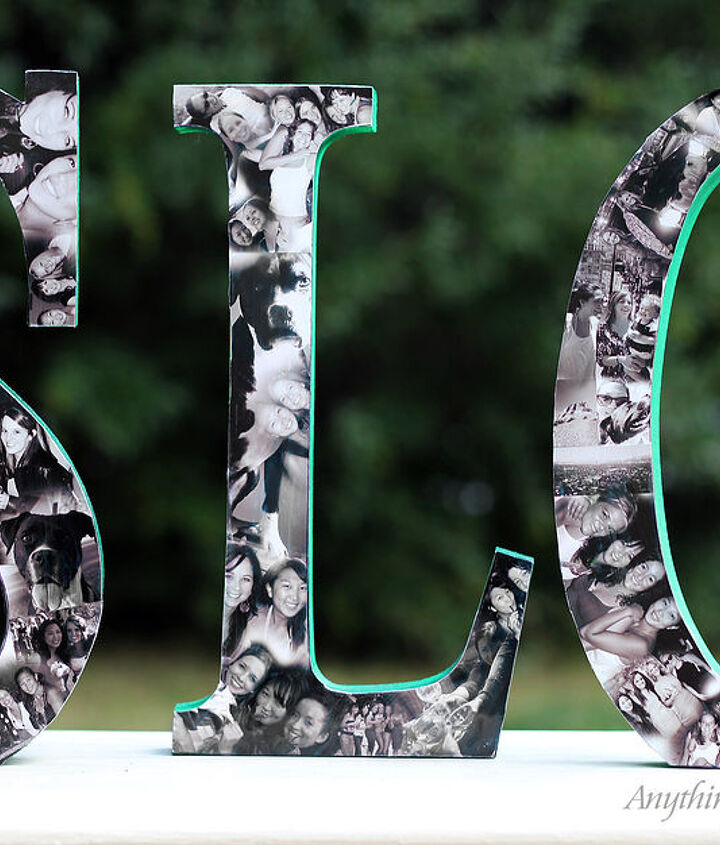 diy photo collage letters, crafts, decoupage, diy