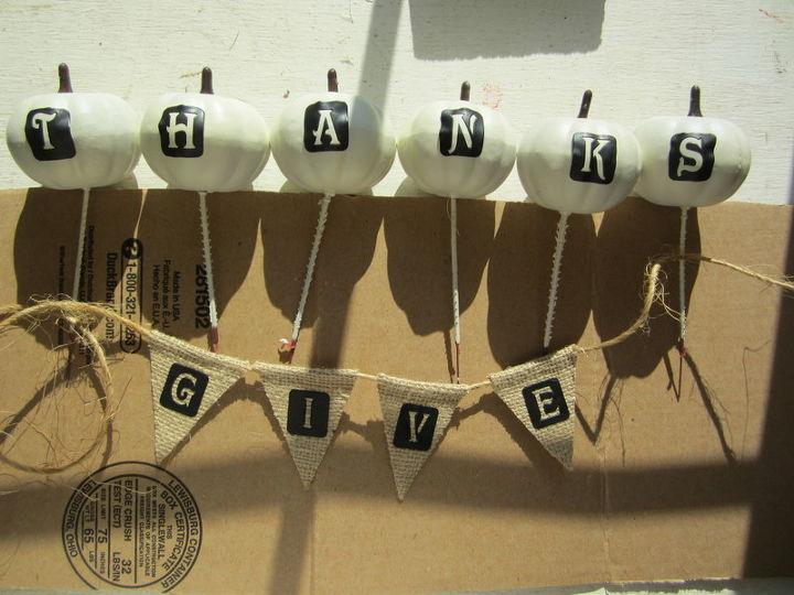 wreaths burlap white pumpkin give thanks, crafts, seasonal holiday decor, wreaths