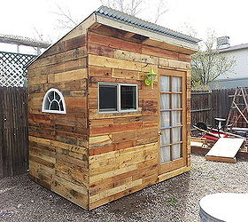 Pallets Garden Shed Build Playhouse, Diy, Gardening, Outdoor Living,  Pallet, ...