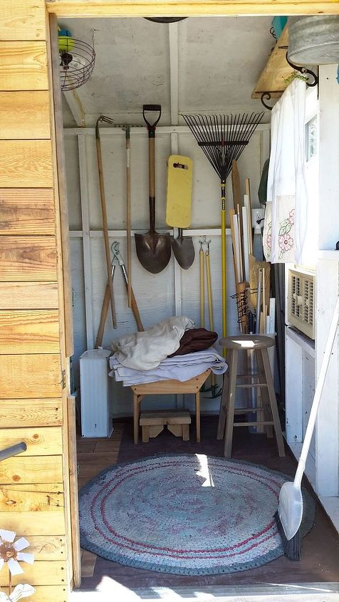 pallets garden shed build playhouse, diy, gardening, outdoor living, pallet, storage ideas