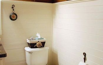 Planked Wall Bathroom Makeover
