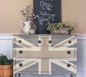 Painted Furniture Union Jack Autumn Vignette, Chalk Paint, Diy, Painted  Furniture