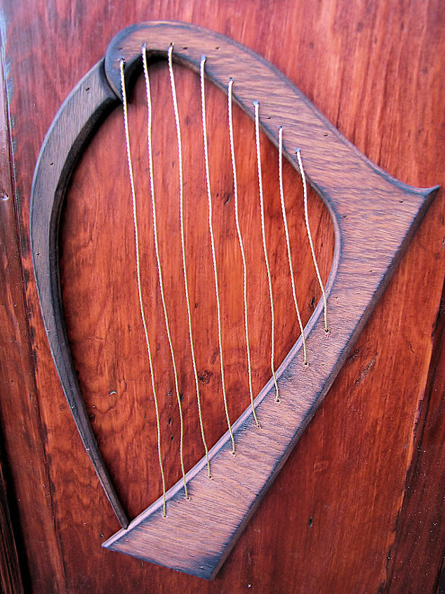 Harps made from mahogany strung w/ brass wire