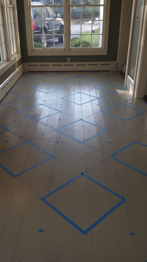 flooring painted diamond pattern foyers budget, diy, foyer, painting