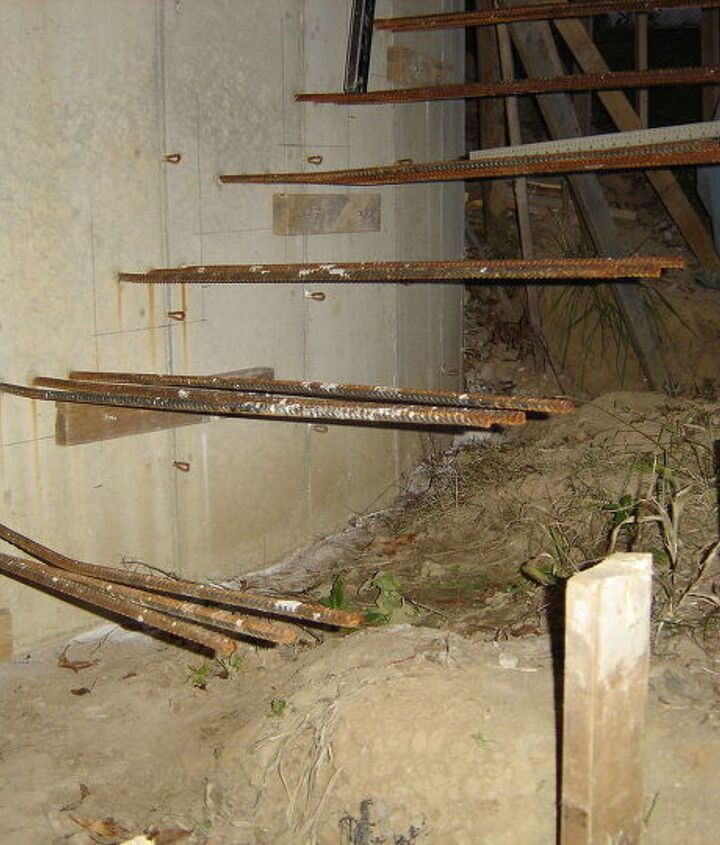 floating staircase, concrete masonry, diy, stairs