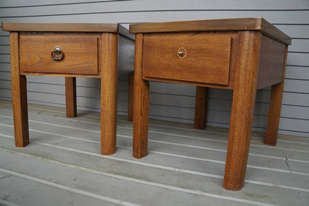 my first commissioned nightstands, painted furniture