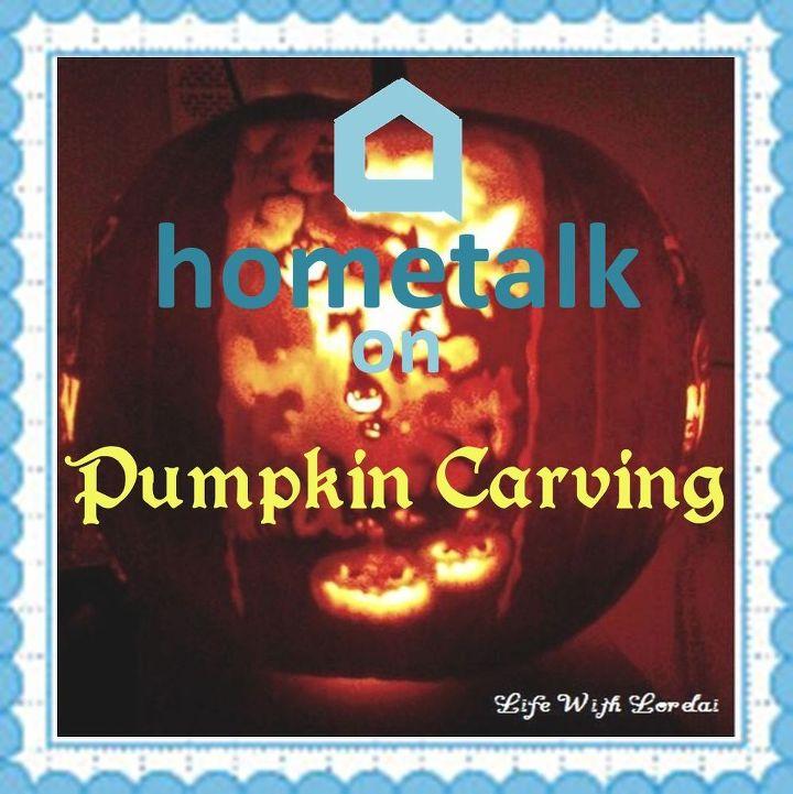 hometalk on pumpkin carving, halloween decorations, how to, seasonal holiday decor