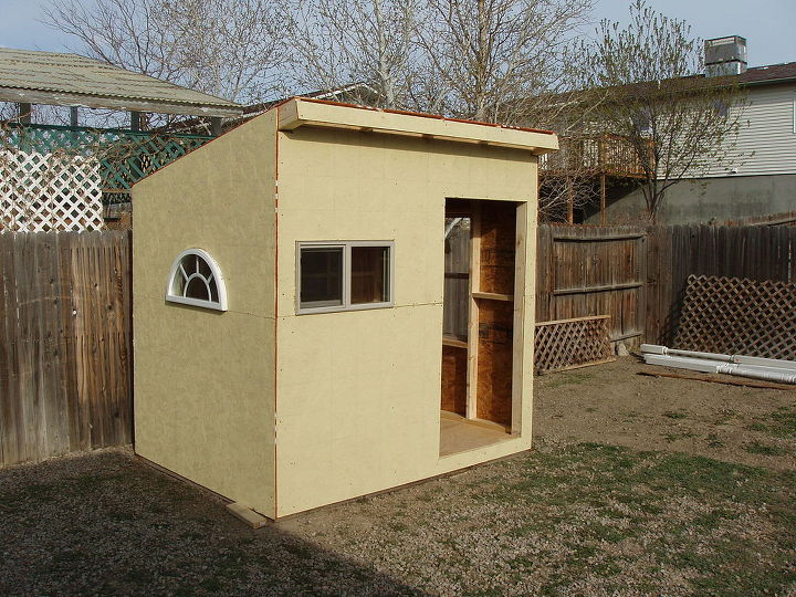 woodworking playhouse garden shed, diy, outdoor living, woodworking projects