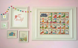 girls room gallery wall, bedroom ideas, home decor, wall decor