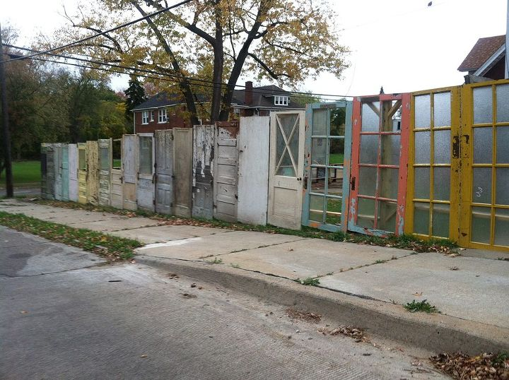 fences upcycled doors repurpose, doors, fences, outdoor living, repurposing upcycling