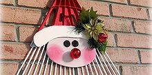 turn a old rake into jolly faced santa, christmas decorations, crafts, repurposing upcycling, seasonal holiday decor