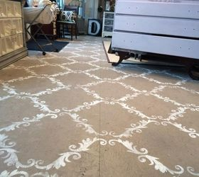 Plywood Floor Stenciled With Chalk Paint | Hometalk