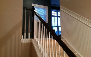 new banister, diy, painting, stairs, woodworking projects
