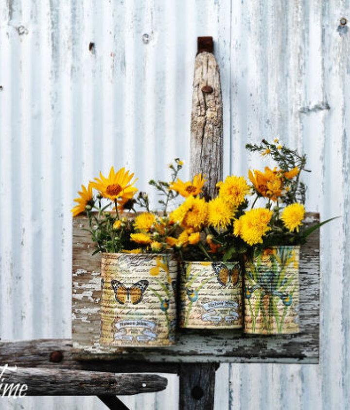 repurposed tin cans wall organizer, home decor, organizing, repurposing upcycling, wall decor
