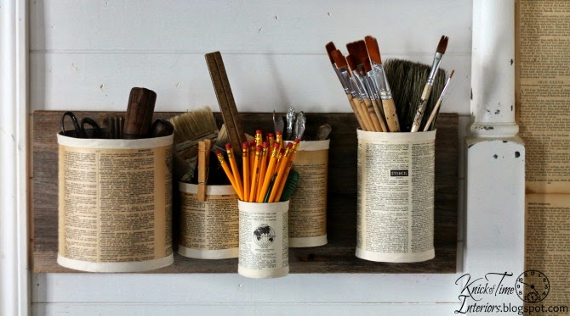 Repurposed Tin Cans Wall Organizer | Hometalk