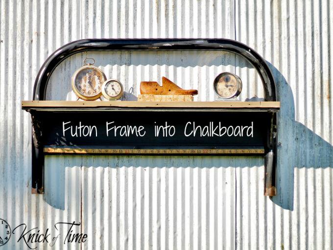 repurposing upcycling futon frame wall shelf chalkboard, chalkboard paint, painted furniture, repurposing upcycling, shelving ideas, wall decor