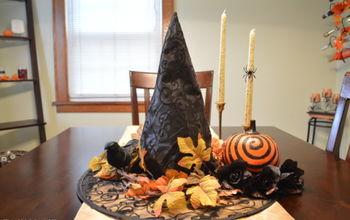 witch hat centerpiece, crafts, halloween decorations, seasonal holiday decor