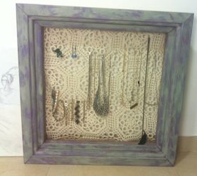 Repurposed Jewelry Organizer Made From an Old Window Shelf