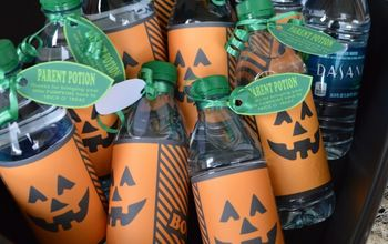 halloween water bottle free printable, crafts, halloween decorations, seasonal holiday decor