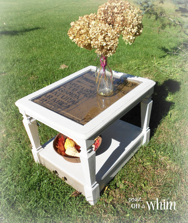 Super Burlap Table Makeover Hometalk Lw43