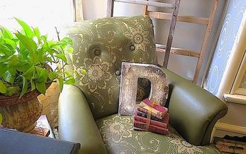 Stencil DIY: Leather Club Chair Goes Drab to Fab!