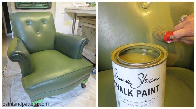 Stenciling Leather Club Chair | Hometalk