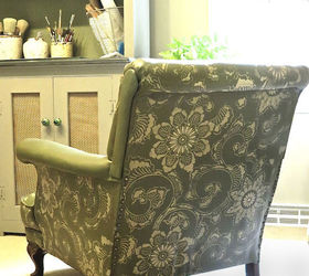 Painting Stencil Leather Club Chair, Chalk Paint, Diy, Painted Furniture,  Painting,