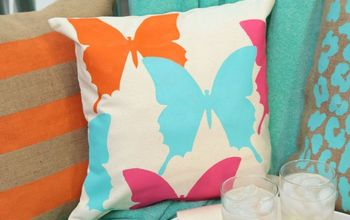 Tulip for Your Home Easy Butterfly Pillow DIY