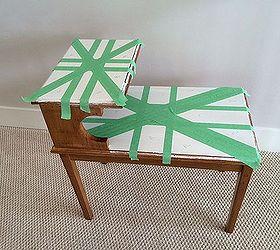 Painted Furniture Union Jack Step Table, Diy, Painted Furniture