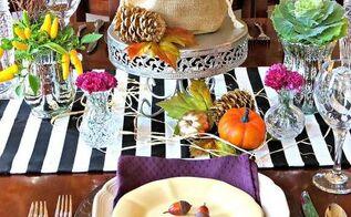 unique fall tablescape, container gardening, home decor, seasonal holiday decor