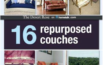 16 AMAZING Repurposed Couches!