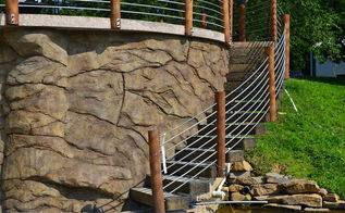 diy concrete retaining wall carved vertical, concrete masonry, diy